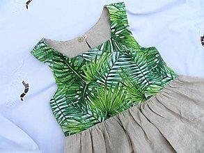 Detské oblečenie - Obojstranné ľanové šaty (Palma) - 13272996_