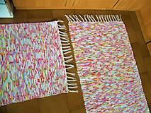 Úžitkový textil - Tkané koberce pestro-melírované 2 ks - 13274422_