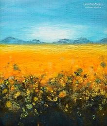 """Obrazy - Arttexový obraz """"Žiara slnečnicového poľa"""""""" - 13276729_"""