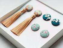 Sady šperkov - Sada buttonkových upcyklovaných náušníc II - 13278988_