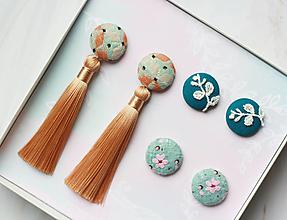 Sady šperkov - Sada buttonkových upcyklovaných náušníc II - 13278989_