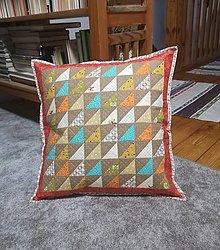 Úžitkový textil - Farebný vankúš - 13280276_
