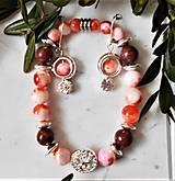 Sady šperkov - Perzský nefrit - hematit - 13278881_
