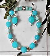 Sady šperkov - Svieži amazonit - 13278888_