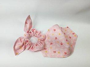 Rúška - Detský set ,rúško + scrunchie - 13276890_