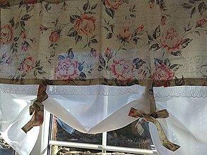 Úžitkový textil - Záclona ruže na béžovom  hneď dostupná - 13280865_