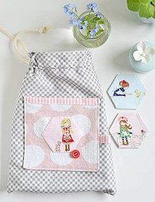 Detské tašky - vrecko pre malú blondínku - 13278406_