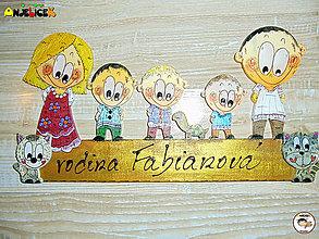 Tabuľky - Menovka - rodinka - 13280182_