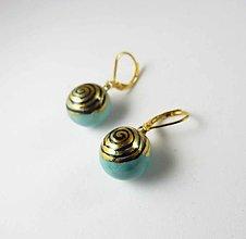 Náušnice - Tana šperky - keramika/zlato - 13279787_
