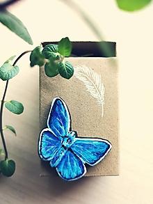 Odznaky/Brošne - Motýľ - brošňa - 13277851_