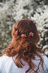 """Ozdoby do vlasov - Kvetinové vlásenky """"slnko v rozkvitnutom sade""""  - 13277536_"""