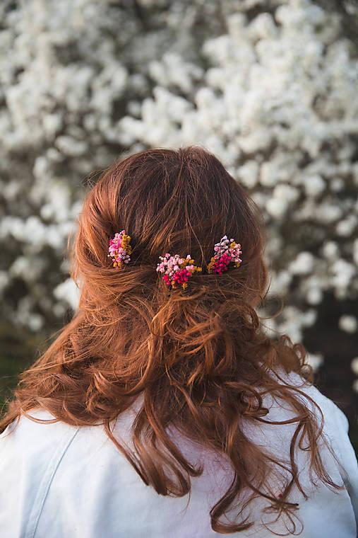 """Kvetinové vlásenky """"slnko v rozkvitnutom sade"""""""