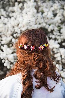 """Ozdoby do vlasov - Kvetinové vlásenky """"život plný smiechu"""" - 13277285_"""