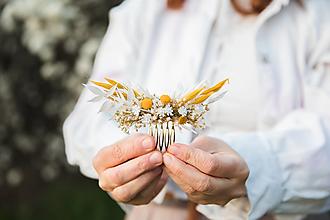 """Ozdoby do vlasov - Kvetinový mini hrebienok """"slnko vyšlo"""" - 13277355_"""