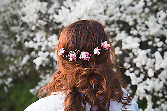 """Ozdoby do vlasov - Kvetinové vlásenky """"cukrová vata"""" - 13277396_"""