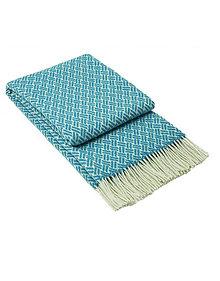 Úžitkový textil - Luxusný pléd z ovčej vlny modrý - 13278191_