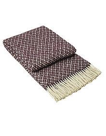 Úžitkový textil - Luxusný pléd z ovčej vlny červený - 13278311_