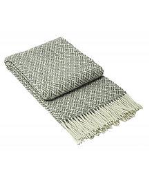 Úžitkový textil - Luxusný pléd z ovčej vlny šedý - 13278410_