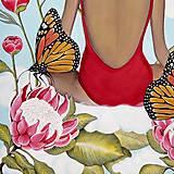 Obrazy - Inner garden maľba - 13277882_