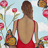 Obrazy - Inner garden maľba - 13277884_