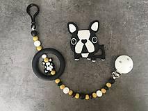Detské doplnky - Retiazka na cumlík s hryzátkom bulldog - 13281280_