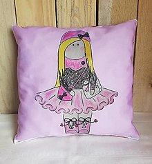 Textil - Jemný ružový dekoračný vankúš - 13278797_