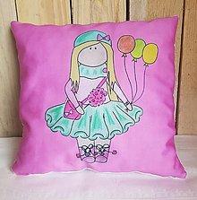 Textil - Ružový dekoračný vankúš - 13278817_