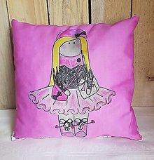 Textil - Ružový dekoračný vankúš - 13278834_