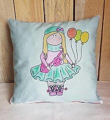 Textil - Zelenkavý dekoračný vankúš - 13278840_