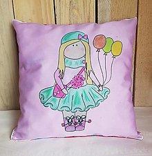 Textil - Jemný ružovkastý dekoračný vankúš - 13278851_