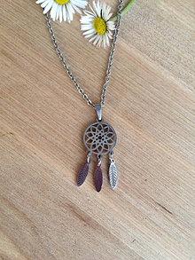 Náhrdelníky - náhrdelník s lapačom snov - oceľ - 13279656_