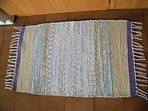 Úžitkový textil - Tkaný koberec fialovo-hnedo-tyrkysový - 13281083_