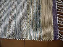 Úžitkový textil - Tkaný koberec fialovo-hnedo-tyrkysový - 13281085_