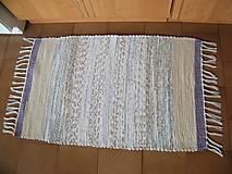 Úžitkový textil - Tkaný koberec fialovo-hnedo-tyrkysový - 13281105_