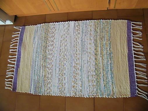 Tkaný koberec fialovo-hnedo-tyrkysový