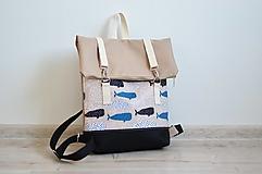Batohy - RollTop ruksak Rolly (veľryby) - 13281783_