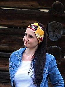 Čiapky - Úpletová čelenka Emma žltá - 13284316_