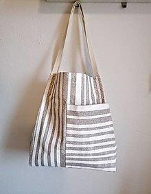 Veľké tašky - Veľká pásikavá letná taška - 13284704_