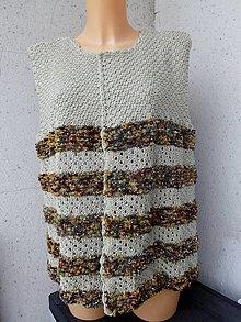 Iné oblečenie - pruhovaná vesta - 13283131_