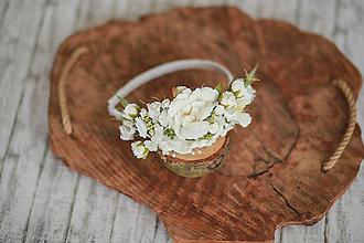 Detské doplnky - Detská kvetinová čelenka na 1. sväté prijímanie - 13284965_