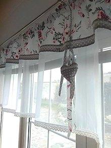 Úžitkový textil - Záclona ružový kvet - 13281700_