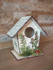 Dekorácie - Vtáčia búdka s bylinkami - 13283540_