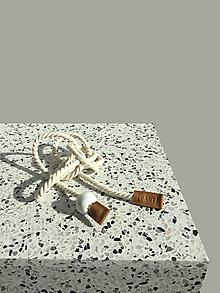 Opasky - Rope belt Caramel - 13283551_