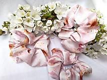 Ozdoby do vlasov - Silk saténová gumička kvety ovocných stromov - 13281871_