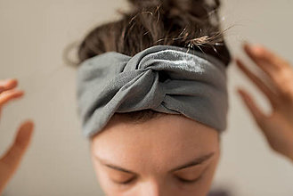 Ozdoby do vlasov - Turban čelenka - 13283340_