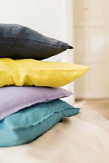 Úžitkový textil - Ľanové vankúše - 13284621_