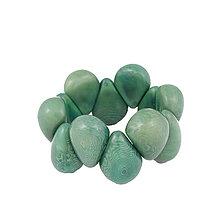 Náramky - Náramok Tagua Zelený - 13285811_