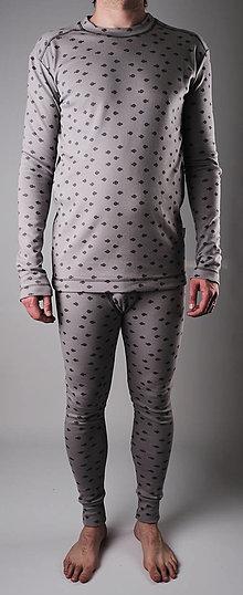 Oblečenie - Pánska spodná vrstva šedá - biobavlna - 13285023_