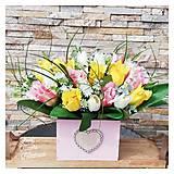 Dekorácie - Tulipanova dekorka - 13285899_