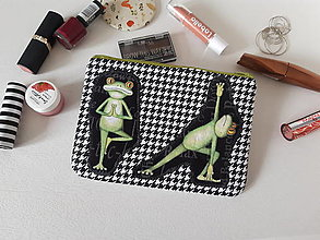 Taštičky - Taštička na mobil - Jóga s žabkami - 13281488_
